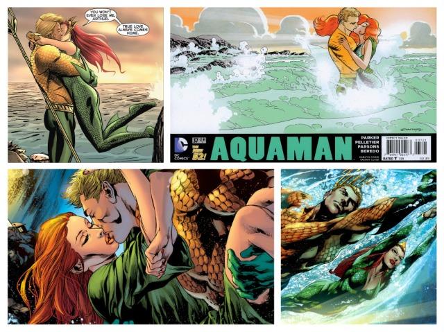 Mera and Aquaman Collage